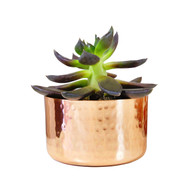 "3"" Hammered Copper Planter"