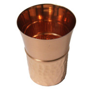 Half Hammered Copper Cup with Top Tapered Out