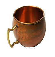 Antique Copper Barrel Shaped Copper Mug