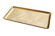 Rectangular Hammered Brass Tray