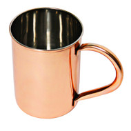 12 oz Smooth Straight Edged Stainless Steel Copper Plated Mugs