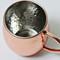 16 oz Hammered Barrel Stainless Steel Copper Plated Mug