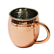 16 oz Hammered Barrel Stainless Steel Copper Plated Mug