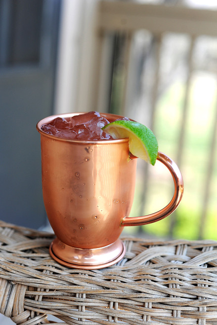 Barrel Shaped Copper Mug with base 16 oz