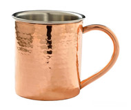 14 oz Double Wall Hammered Stainless Steel Copper Plated Mugs