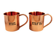 Mr. and Mrs. Mugs Copper Mugs - set of 2