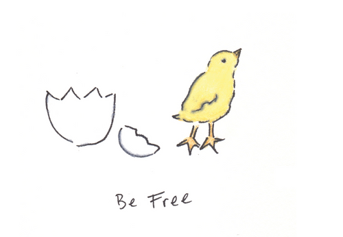 "Be Free (11"" x 9"" Print)"