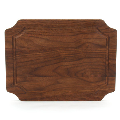 9 x 12 Scalloped Walnut Cutting Board