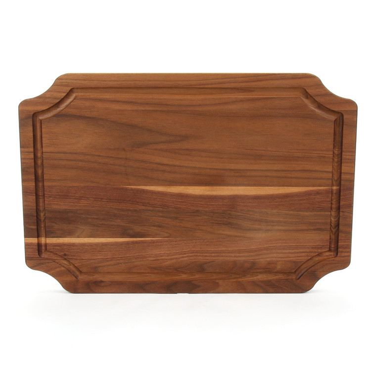 12 x 18 Scalloped Walnut Cutting Board