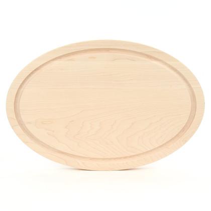 12 x 18 Oval Maple Cutting Board