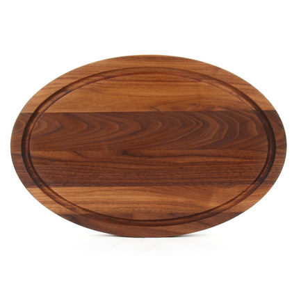 12 x 18 Oval Walnut Cutting Board