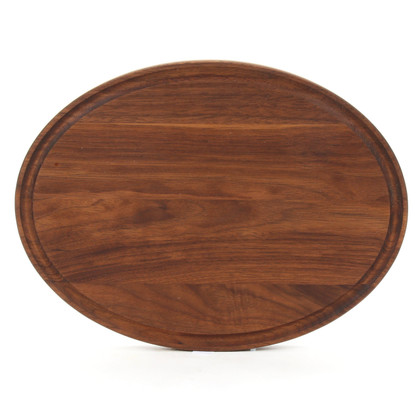 Monogrammed Grandbois 9 x 12 Oval  Walnut Cutting Board