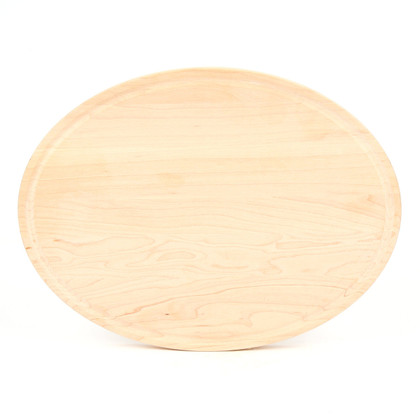 9 x 12 Oval Maple Cutting Board