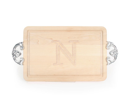 Carved Initial 10 x 16 Rectangle Cutting Board