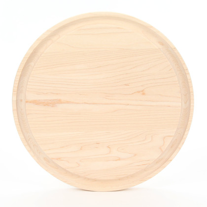 Monogrammed Somerset 10 1/2 Inch Round Maple Cutting Board