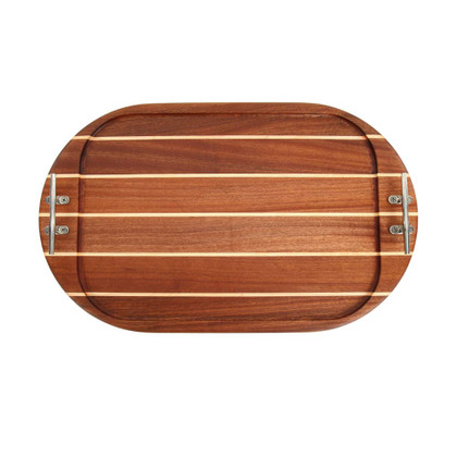 Oval Sapele Serving Tray