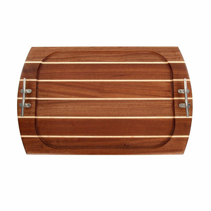 Rectangle Sapele Serving Tray