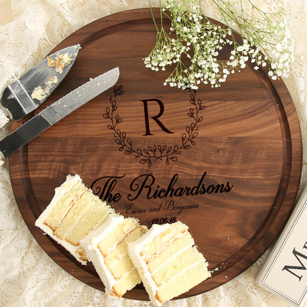 Unique Monogrammed Wedding Gifts: 10 1/2 Inch Personalized Wedding Gift Board