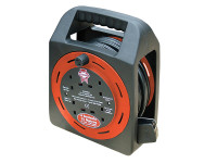 Faithfull Power Plus Easy Reel Cable Reel 15 Metre 13 Amp with 4 Socket 240 Volt