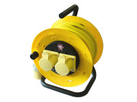 Faithfull Power Plus Cable Reel 50 Metre 16amp 1.5mm Cable 110 Volt