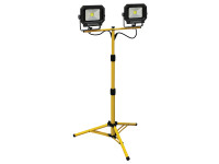 Faithfull Power Plus COB LED Twin Tripod Site Light 2800 Lumen 40 Watt 240 Volt| Duotool