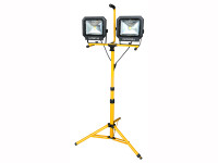 Faithfull Power Plus COB LED Site Light Twin Pod Tripod 4200 Lumen 60 Watt 110 Volt| Duotool