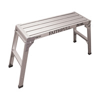 Faithfull Fold Away Step Up Aluminium L100 x H52 x W30cm from Duotool.