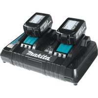 Makita DC18RD LXT Li-Ion Twin Port Rapid Battery Charger with 2 x BL1830 3Ah Batteries From Duotool