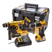 DeWalt 18v Combi Drill & SDS+ Rotary Hammer Drill Twin Pack from Duotool.