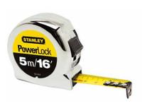 Stanley 033553 Powerlock Tape Measure Metric / Imperial 5m / 16ft with 19mm Blade from Duotool.