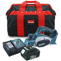 Makita DKP180Z 18v Planer 82mm with 3.0Ah, Fast Charger and Tool Bag from Duotool.