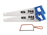Bahco 2 x 244 Hardpoint Handsaw 500mm (20in) & 1 x 239 Junior Saw 150mm (6in)| Duotool
