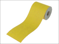 Faithfull Aluminium Oxide Sanding Paper Roll Yellow 115mm x 10m 40g