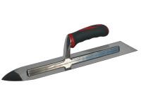 Faithfull Flooring Trowel Stainless Steel Soft-Grip Handle 16in x 4in