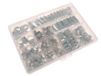 Jubilee© Workshop Pack 143 Assorted Hose Clips (Mild Steel)