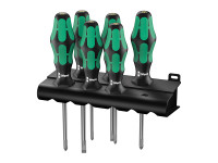 Wera Kraftform Plus Lasertip 335/350/355/6 Screwdriver Set of 6 SL / PZ / PH
