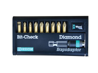 Wera Bit-Check Torsion Diamond Set of 10 SL PH & PZ