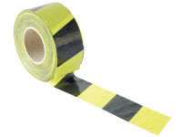 Faithfull Barrier Tape 70mm x 500m Black & Yellow