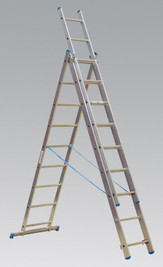 Sealey Aluminium Extension Combination Ladder 3x9 EN 131 from Toolden