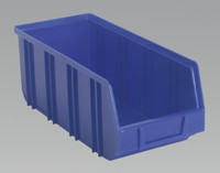 Sealey Plastic Storage Bin Deep 145 x 335 x 125mm Blue Pack of 16 from Toolden