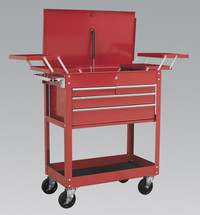 Sealey Extra Heavy-Duty Trolley 2-Level with 4 Drawers & Cantilever Trays from Toolden