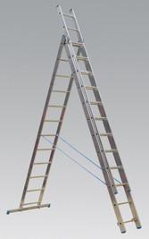 Sealey Aluminium Extension Combination Ladder 3x12 EN 131 from Toolden