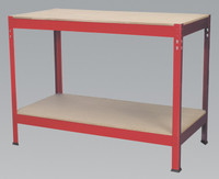 Sealey Workbench 1.2mtr Steel Wooden Top from Toolden
