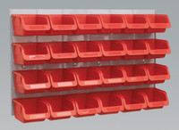 Sealey Bin & Panel Combination 24 Bins - Red from Toolden