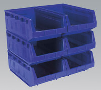 Sealey Plastic Storage Bin 310 x 500 x 190mm - Blue Pack of 6 from Toolden