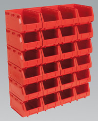 Sealey Plastic Storage Bin 148 x 240 x 128mm - Red Pack of 24 from Toolden