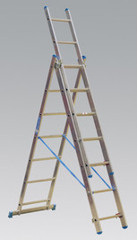 Sealey Aluminium Extension Combination Ladder 3x7 EN 131 from Toolden