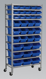 Sealey Mobile Bin Storage System 36 Bins from Toolden