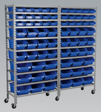 Sealey Mobile Bin Storage System 72 Bins from Toolden