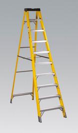 Sealey Fibreglass Step Ladder 9-Tread EN 131 from Toolden